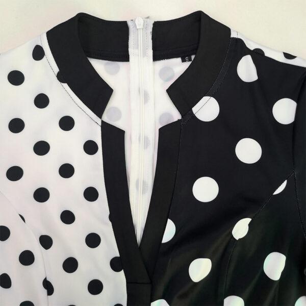 Robe Blanche et Noire Asymétrique Robe Blanche et Noire Femme Robe Blanche Soirée Blanche
