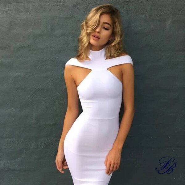 Robe Blanche Cocktail Bandage Robe Blanche Cocktail Femme Robe Blanche Soirée Blanche