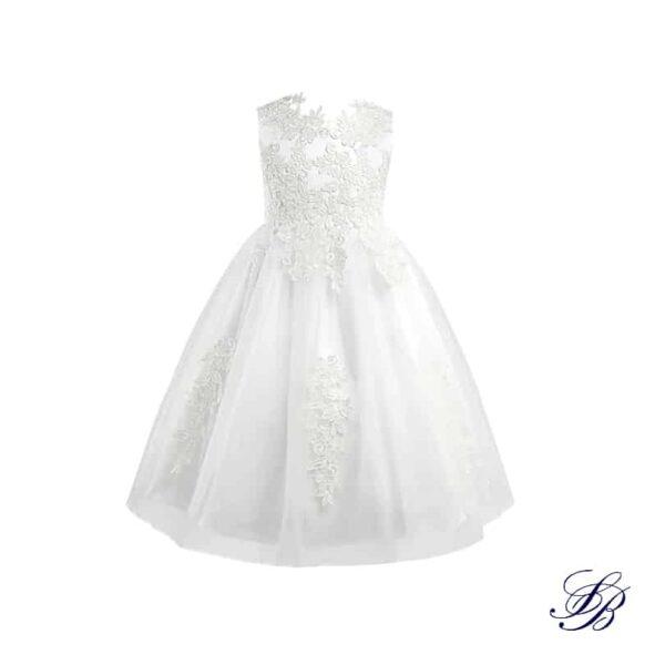 Robe Blanche Communion pour Fille Fille Enfant Soirée Blanche