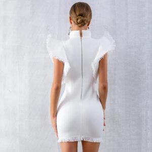 Robe Blanche de Cocktail Courte Robe Blanche Cocktail Femme Robe Blanche Soirée Blanche