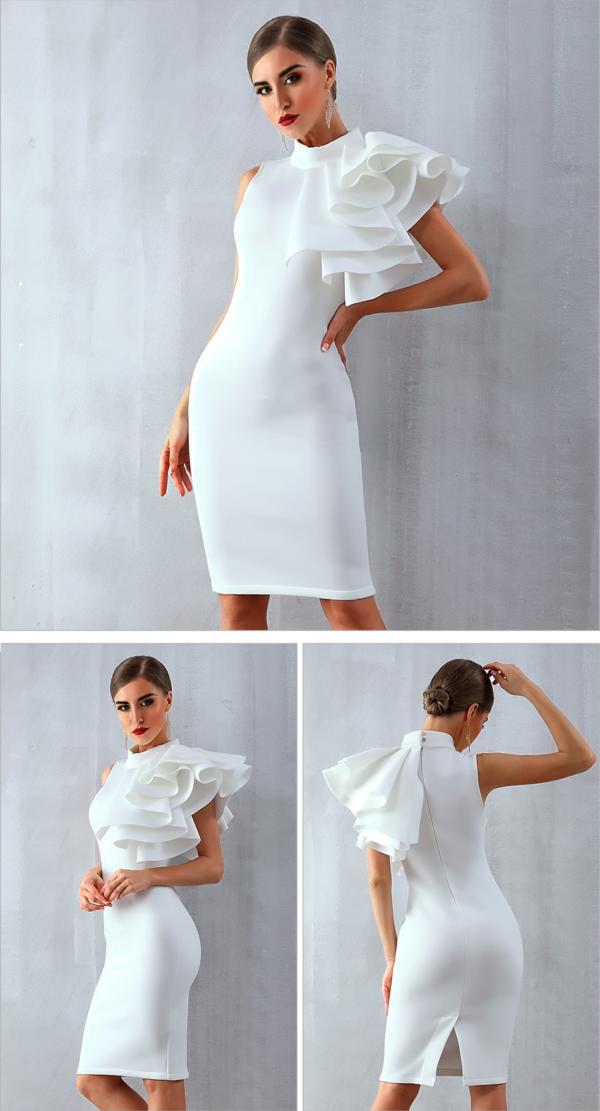 Robe Blanche Sans Manche Robe de Soirée Blanche Soirée Blanche
