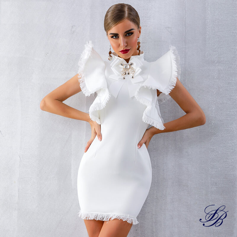 Robe Blanche de Cocktail Courte Femme Robe Blanche Robe Blanche Cocktail a7796c561c033735a2eb6c: Blanc|NoirSoirée Blanche