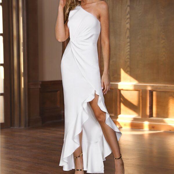 Robe Blanche Maxi Courte Devant Robe Blanche Longue Femme Robe Blanche Soirée Blanche