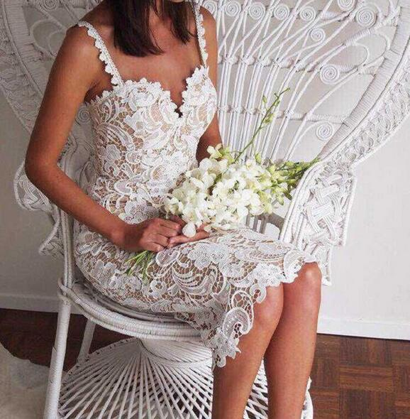 Robe Blanche Dentelle pour Mariage Femme Robe Blanche Robe Blanche Dentelle Couleur: Kaki Taille: XL Soirée Blanche
