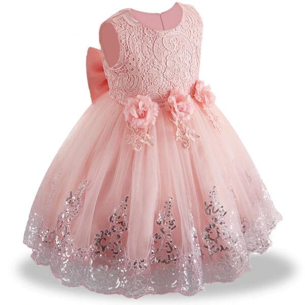 Robe Blanche Mariage Bébé Fille Fille Enfant Soirée Blanche