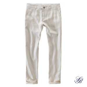 Pantalon Blanc Fluide en Lin Pantalon Blanc Homme Bas Blanc Soirée Blanche
