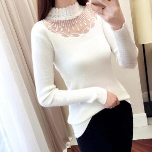 Sous Pull Blanc Dentelle Femme Pull Blanc Femme Haut Blanc Soirée Blanche