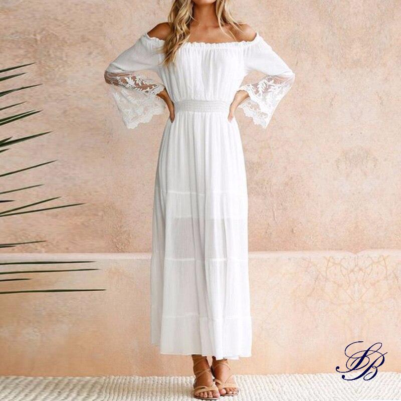 Robe Blanche Bohème Maxi Fille Robe Blanche Bohème Robe Blanche Longue a7796c561c033735a2eb6c: Blanc  Soirée Blanche