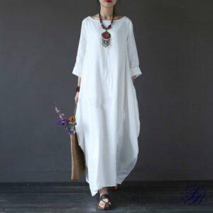 Robe Blanche Longue Ample Robe Blanche Bohème Robe Blanche Longue a7796c561c033735a2eb6c: Blanc|Bleu|Noir|Rouge|Vert Soirée Blanche