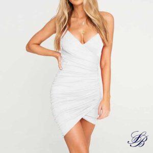 Robe Blanche Courte Décolleté Sexy Robe Blanche Courte Femme Robe Blanche Soirée Blanche