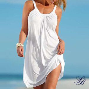 Robe Blanche de Plage Courte Robe Blanche Courte Femme Robe Blanche Soirée Blanche