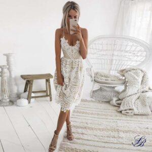 Robe Blanche Crochet Robe Blanche Dentelle Femme Robe Blanche Soirée Blanche
