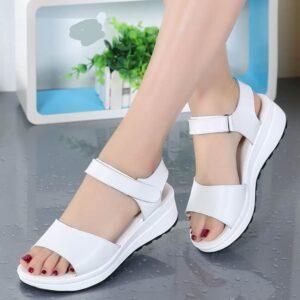 Chaussure Blanche Talon Compensé Chaussures Blanches Femme Soirée Blanche