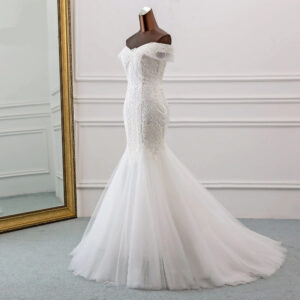 Robe Blanche de Mariée Robe de Mariage Blanche Femme Robe Blanche Soirée Blanche