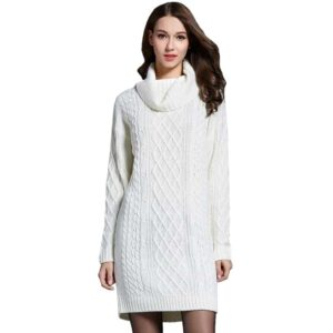 Robe Pull Blanche Longue Robe Blanche Longue Femme Robe Blanche Soirée Blanche