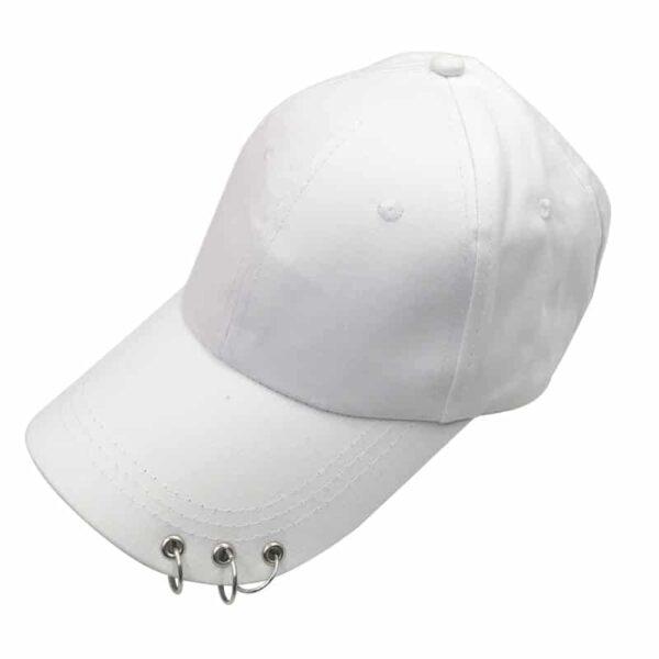 Casquette Blanche de Baseball Casquette Blanche Accessoires Blancs Soirée Blanche