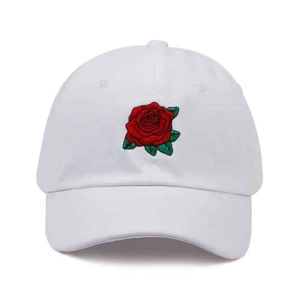 Casquette Blanche Avec Une Rose Casquette Blanche Accessoires Blancs Soirée Blanche