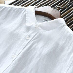 Chemise Blanche Vintage Lin Chemise Blanche Homme Haut Blanc Soirée Blanche