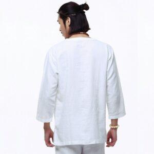Chemise Blanche Vintage Homme Chemise Blanche Homme Haut Blanc Soirée Blanche