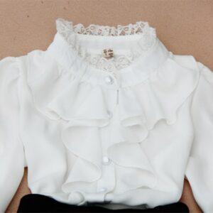 Chemise Blanche Pour Fille Enfant Soirée Blanche