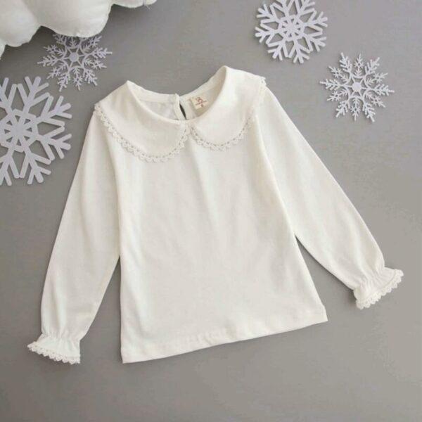 Chemise Blanche Pour Fillette Enfant Soirée Blanche