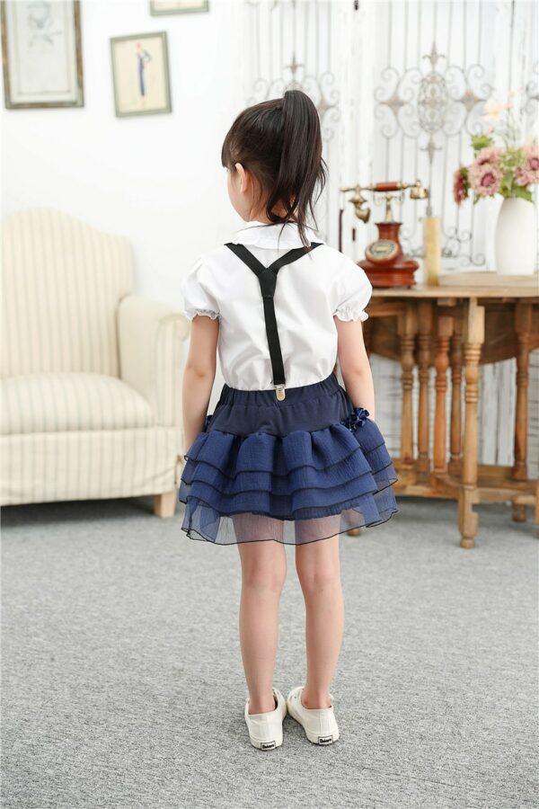 Chemise Blanche Pour Fille à Manches Courtes Enfant Haut Blanc Chemisier Blanc Soirée Blanche