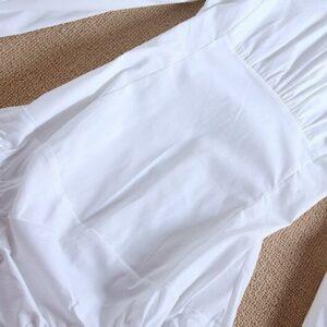 Chemise Blanche Body à Boutons Noirs Chemisier Blanc Femme Haut Blanc Soirée Blanche
