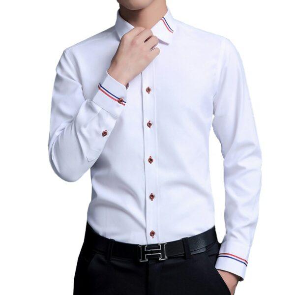 Chemise Blanche Habillée Homme Chemise Blanche Homme Haut Blanc Soirée Blanche