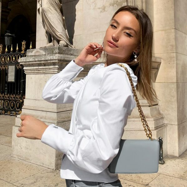 Chemise Blanche Sexy Vintage Chemise Blanche Femme Haut Blanc Soirée Blanche