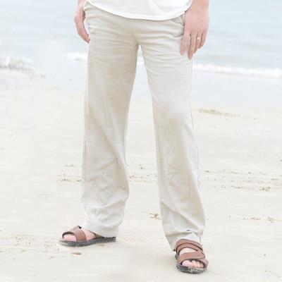 Pantalon Blanc Pour Homme en Coton Pantalon Blanc Homme Bas Blanc Soirée Blanche