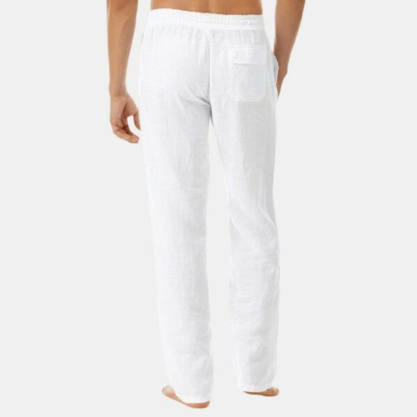Pantalon Blanc Fluide Homme Pantalon Blanc Homme Bas Blanc Soirée Blanche
