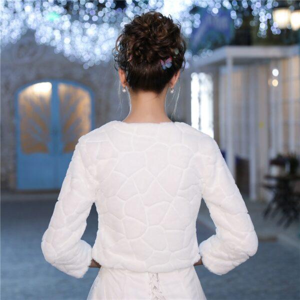 Veste Fourrure Blanche Femme Mariage Veste Blanche Femme Haut Blanc Soirée Blanche