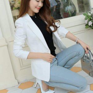 Veste Tailleur Femme Blanche Veste Blanche Femme Haut Blanc Soirée Blanche