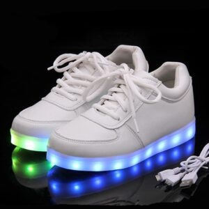 Chaussures Blanches Lumineuses Chaussures Blanches Soirée Blanche