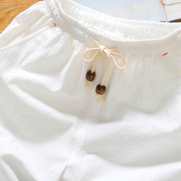 Short Blanc Décontracté Homme Bas Blanc Short Blanc Soirée Blanche