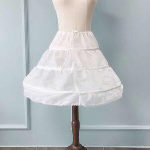 Jupon Blanc Fille Fille Enfant Soirée Blanche
