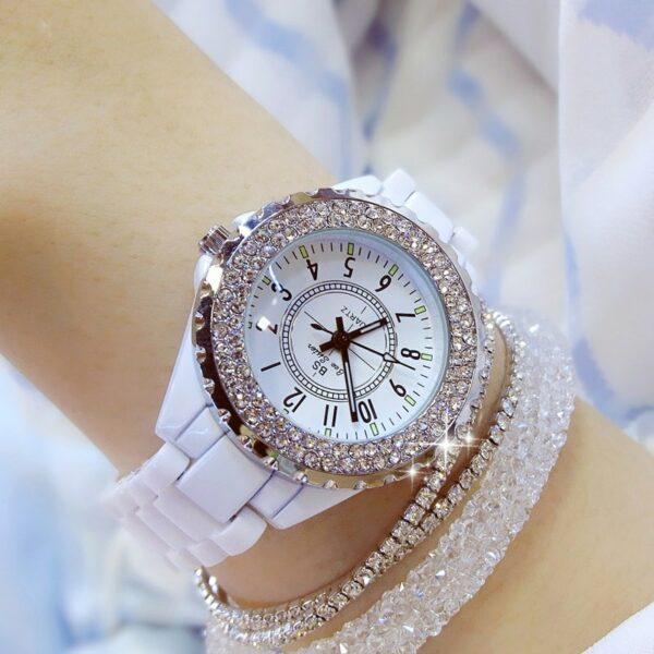 Montre Céramique Blanche Femme Montre Blanche Accessoires Blancs Soirée Blanche