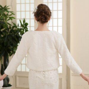 Boléro Blanc Veste Blanche Femme Haut Blanc Soirée Blanche