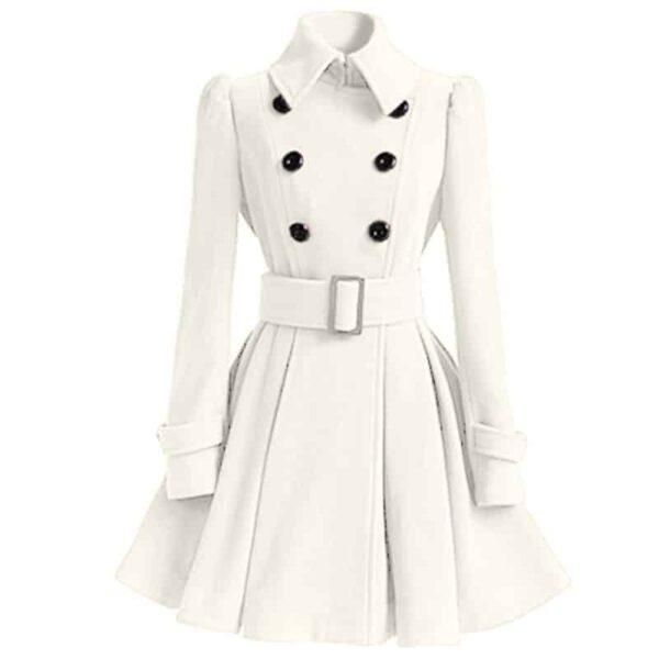 Manteau Blanc Long Femme Manteau Blanc Femme Haut Blanc Soirée Blanche