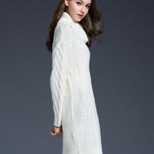 Robe Pull Blanche Longue Robe Blanche Longue Femme Robe Blanche Soirée Blanche