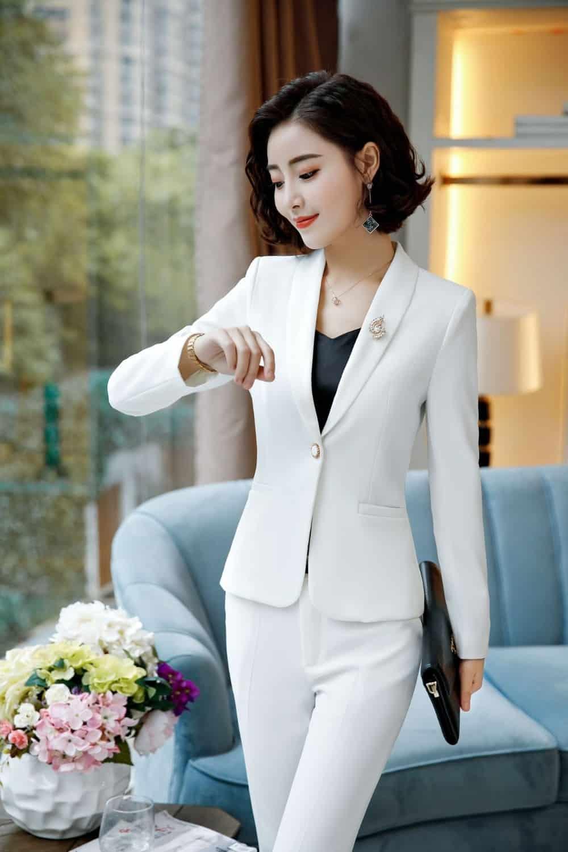 Tailleur Blanc Chic Femme | Soirée Blanche