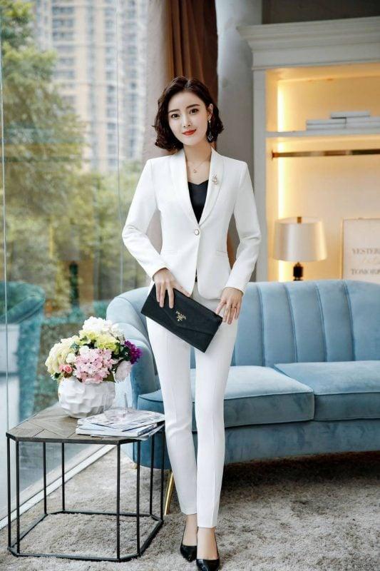Tailleur Blanc Chic Femme Femme Ensemble Blanc Tailleur Blanc a7796c561c033735a2eb6c: Veste & Pantalon Blancs|Veste & Pantalon Jaunes|Veste & Pantalon NoirsSoirée Blanche
