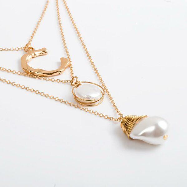 Collier Blanc Fantaisie Bijou Blanc Accessoires Blancs Soirée Blanche