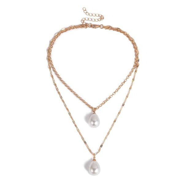 Collier Perle Blanche Bijou Blanc Accessoires Blancs Soirée Blanche