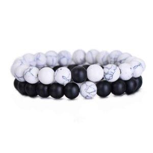 Bracelet Blanc Duo Bijou Blanc Accessoires Blancs Soirée Blanche
