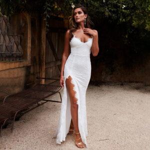 Robe Blanche Longue de Soirée Robe Blanche Longue Femme Robe Blanche Soirée Blanche