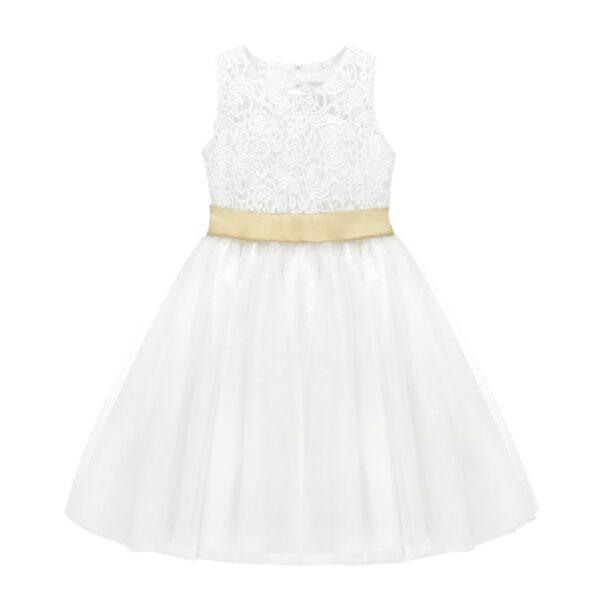Robe Blanche de Fille pour Communion Fille Enfant Soirée Blanche