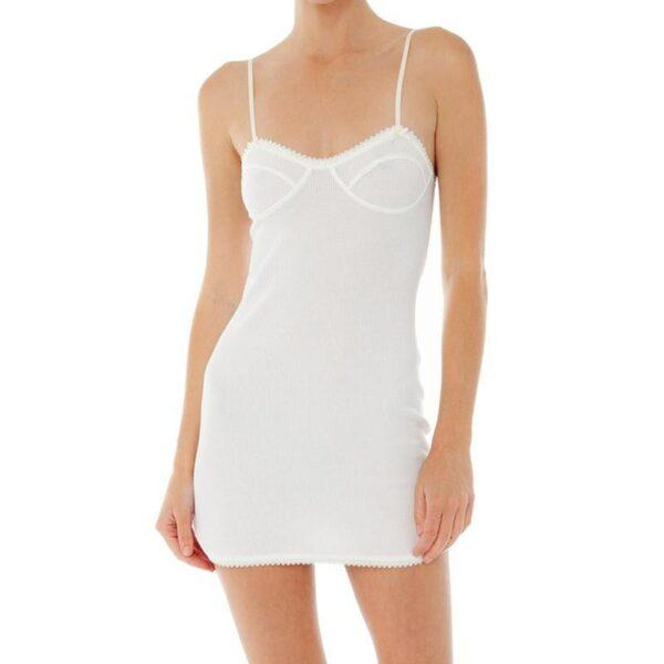 Robe Blanche Courte Moulante et Transparente Robe Blanche Courte Nuisette Blanche Robe Blanche Soirée Blanche
