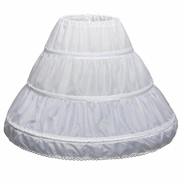 Jupon de Robe Blanche Pour Fille Fille Enfant Soirée Blanche