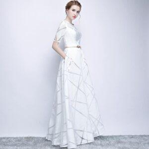 Robe Blanche de Soirée Robe de Soirée Blanche Femme Robe Blanche Soirée Blanche